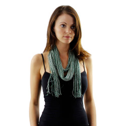 Exquisite Essence Long Scarf with Silver Shimmer Accents