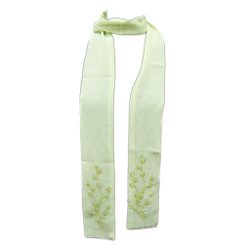 Spring Sprung Long Scarf with Beaded and Sequined Flowers