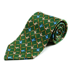 100% Silk Handmade Hawk on the Wing Tie