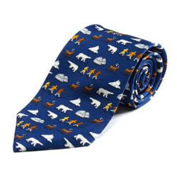 100% Silk Handmade Artic Adventures Tie