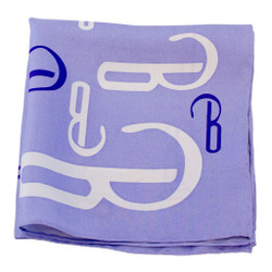 Lilac Attack Silk Pocket Square or Handkerchief by Belisi