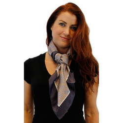 Gray Gardens Square Silk Scarf by Belisi