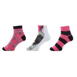 Favorite Things Womens Printed Socks Set of 3