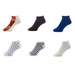 Edible Anklets Womens Printed Socks Set of 6