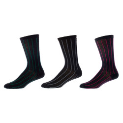 Powerful Stripe Men's Dress Sock 3 Pair Set