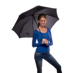 Bright Solid Color Automatic Umbrella