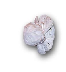 Cotton Door Handle Cover, White Battenburg Lace