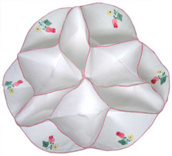 Embroidered Dinner Roll Warmer with Adorable Floral Accents