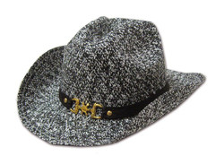 Spur of the Moment Cowboy Hat (Black and White Variegated) …