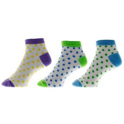 Dot Dot Dot Ladies Anklet Socks Set of 3