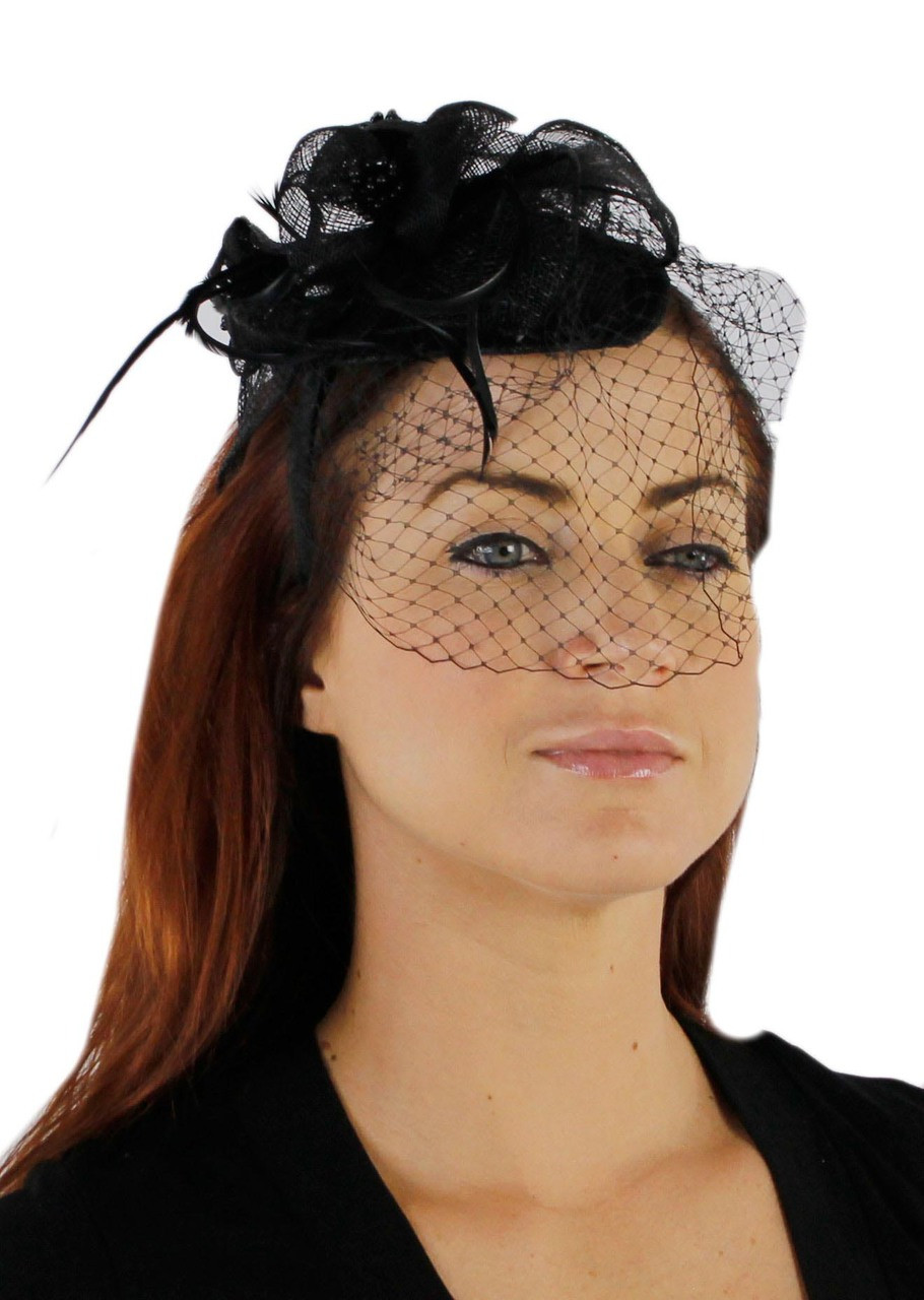 Charisma Sinamay Fascinator Cocktail Hat with Headband and ...