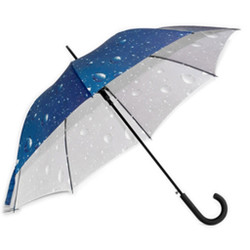 Designer Umbrella with Rain Drop Print Inside
