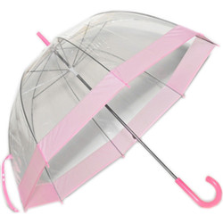 See Thru Greatlookz Bubble Umbrella with Pink Trim