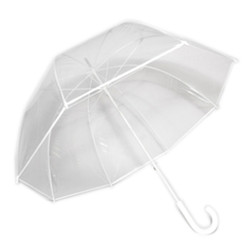 Couture Fiberglass Frame Bubble Umbrella with White Trim