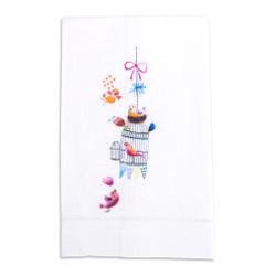 A Bird in the Hand Printed Linen Tea Towel Design 3