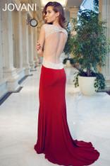 Jovani 90732 Burgundy Prom Dress Size 6 on SALE