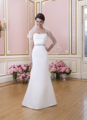 Sweetheart by Justin Alexander Bridal Dress 6030 White Size 10 on Sale