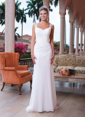 Sweetheart by Justin Alexander Bridal Dress 6048 Ivory Size 14 on Sale