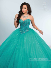 Princess by Mary's Quinceanera Dress 4Q448, Teal, Size 6 on SALE