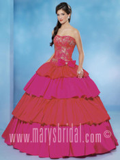 Beloving by Mary's Quinceanera Dress 4853, Hot Magenta, Size 16 on SALE