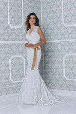 Impression Bridal Couture Wedding Dress 12704 Ivory Size 14 on Sale