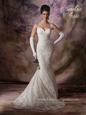 Karelina Sposa Exclusive by Mary's Bridal Wedding Dress C7993 Ivory Size 10 on Sale
