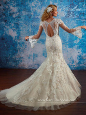 Karelina Sposa Exclusive by Mary's Bridal Wedding Dress C8065 Ivory Size 12 on Sale