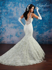 Karelina Sposa Exclusive by Mary's Bridal Wedding Dress C8081 Ivory Size 14 on Sale
