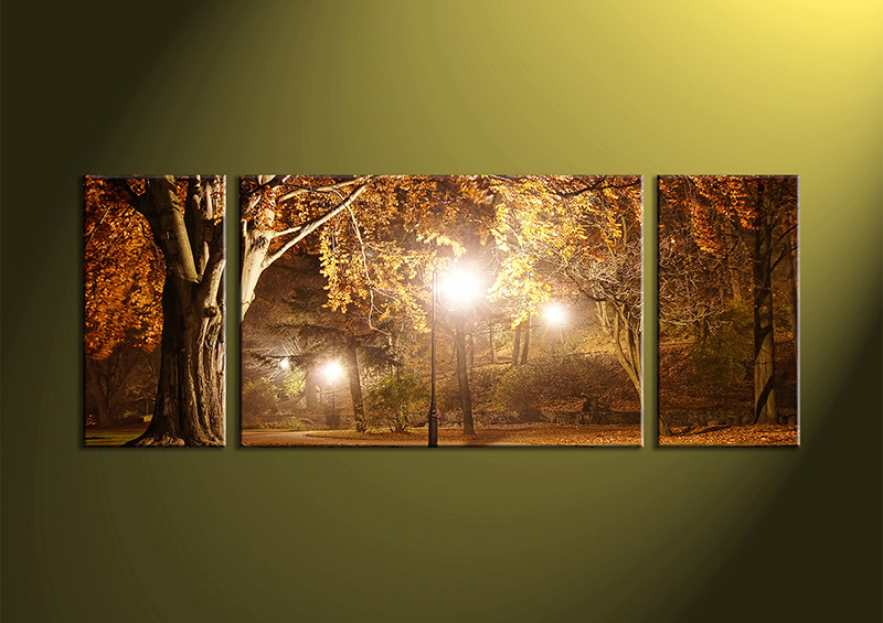 Tree Canvas Wall Art 3 piece brown canvas forest art