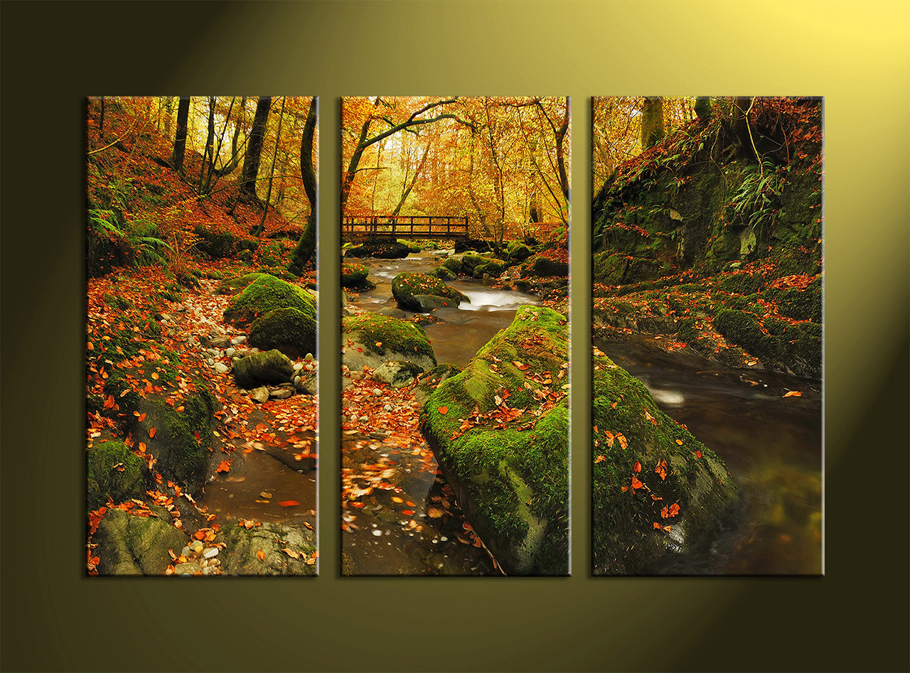 Landscape Art 3 Piece Scenery Wall Forest Nature