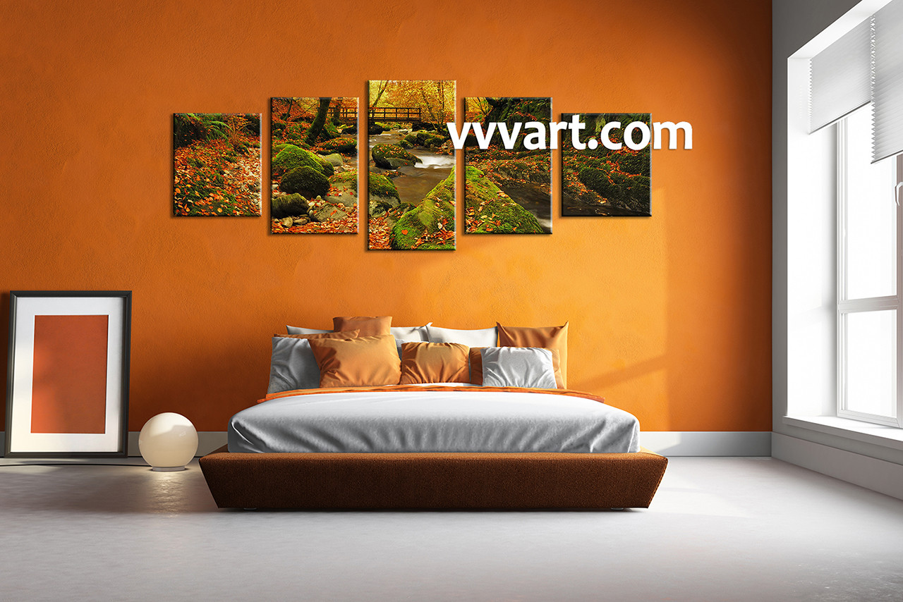 Forest Wall Art 5 piece canvas forest multi panel art