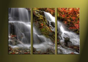 Landscape Art, 3 piece art, forest wall art, forest art, scenery wall art