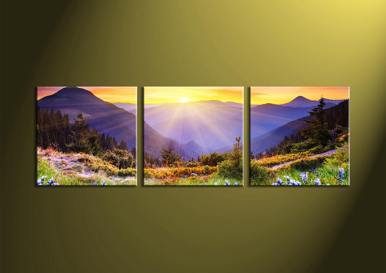 3 Piece Colorful Mountain Canvas Art Prints