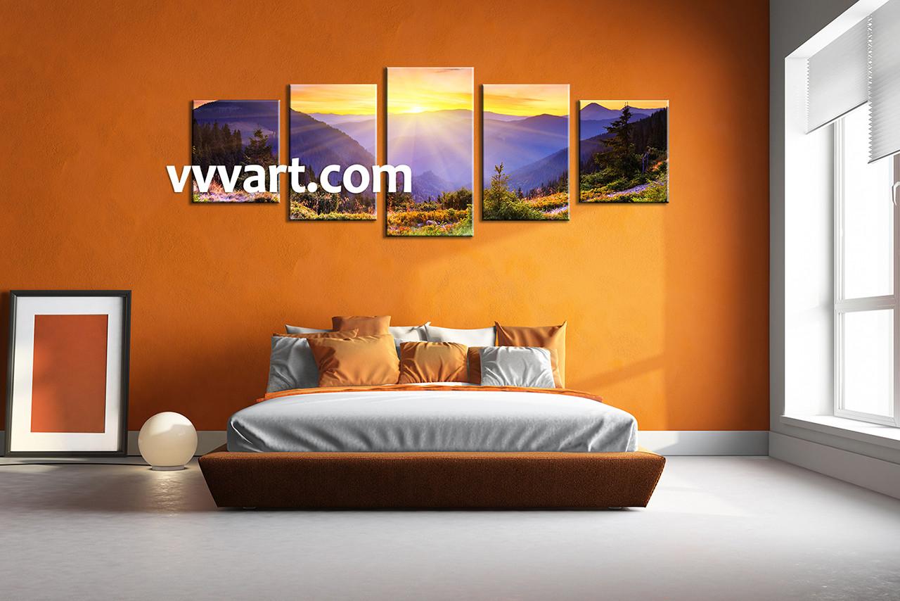 Canvas Prints, landscape prints,bedroom canvas art, sunrise wall art