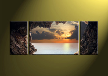 scenery group canvas, Home Decor,3 piece wall art, Landscape multi panel art, mountain huge picture