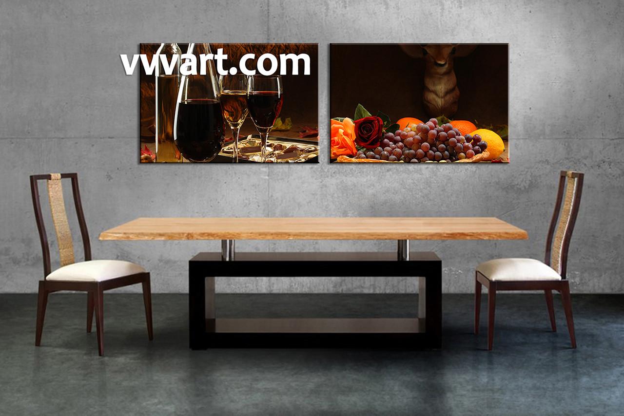 Wine decor dining room - Dining Room Wall Decor 2 Piece Wall Art Home Decor Canvas Art