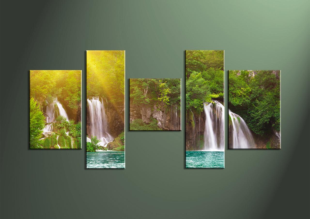 5 piece green canvas ocean wall decor for 5 piece mural