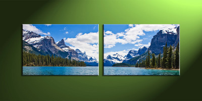 Home wall decor, mountain photo canvas, river large canvas, landscape canvas art prints, scenery group canvas