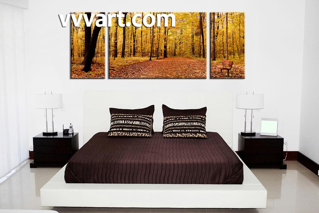 Bedroom Decor, 3 Piece Wall Art, Nature Multi Panel Art, Scenery Art,