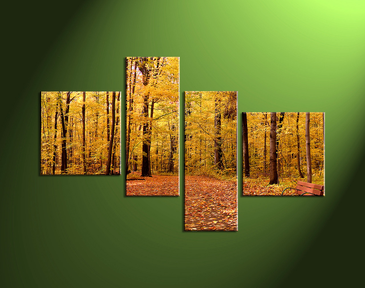 Nature Canvas Wall Art 4 piece nature scenery yellow trees canvas wall art