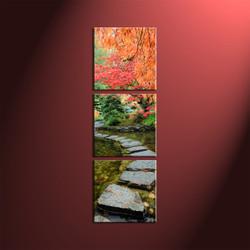 home décor, 3 piece group canvas, nature canvas print, forest canvas print,  scenery large canvas