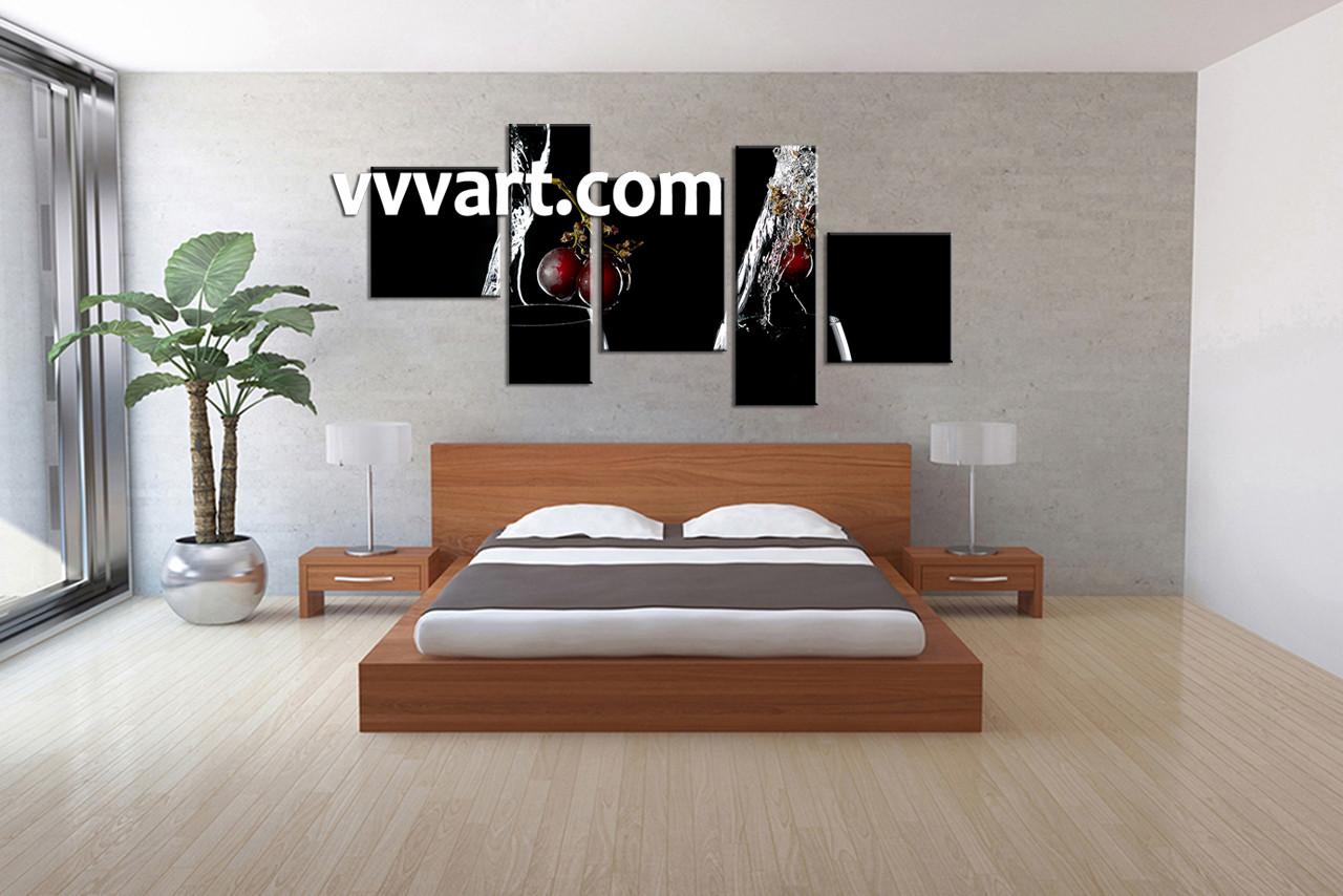 bedroom dcor5 piece canvas wall artscenery multi panel canvas 5 piece