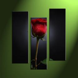 Floral huge canvas, 3 piece art, 3 piece large pictures, home décor, flower multi panel art