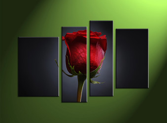 4 piece wall art, rose large pictures, flower canvas photography, rose artwork, flower multi panel canvas