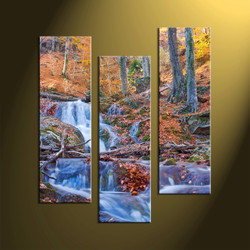 Home Decor 3 Piece Wall Art Forest Multi Panel Scenery Canvas