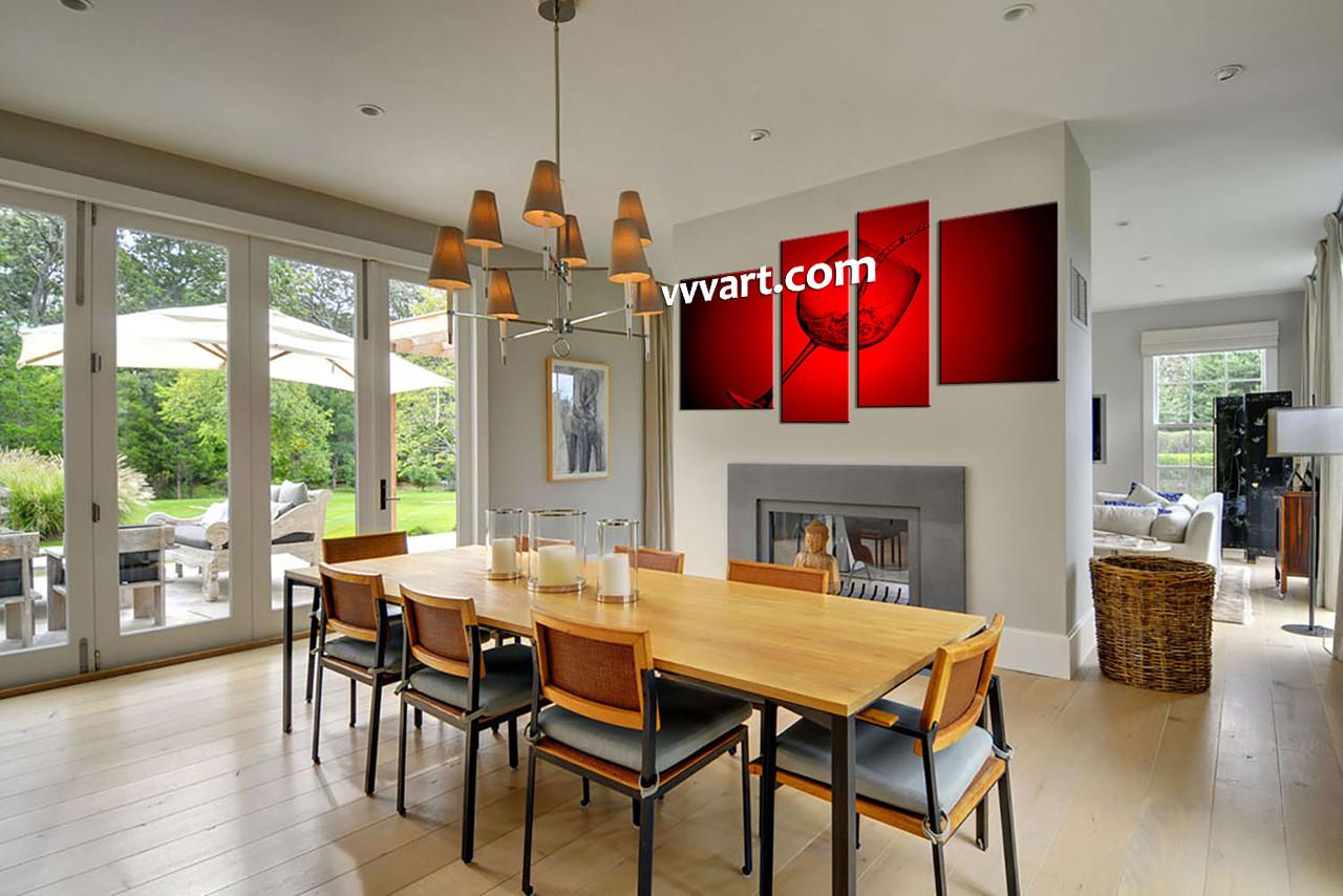 dining room dcor glass huge canvas art wine huge canvas art red huge