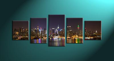 Home Décor,5 piece canvas art prints,canvas print, city art, city scape city large canvas , city group canvas