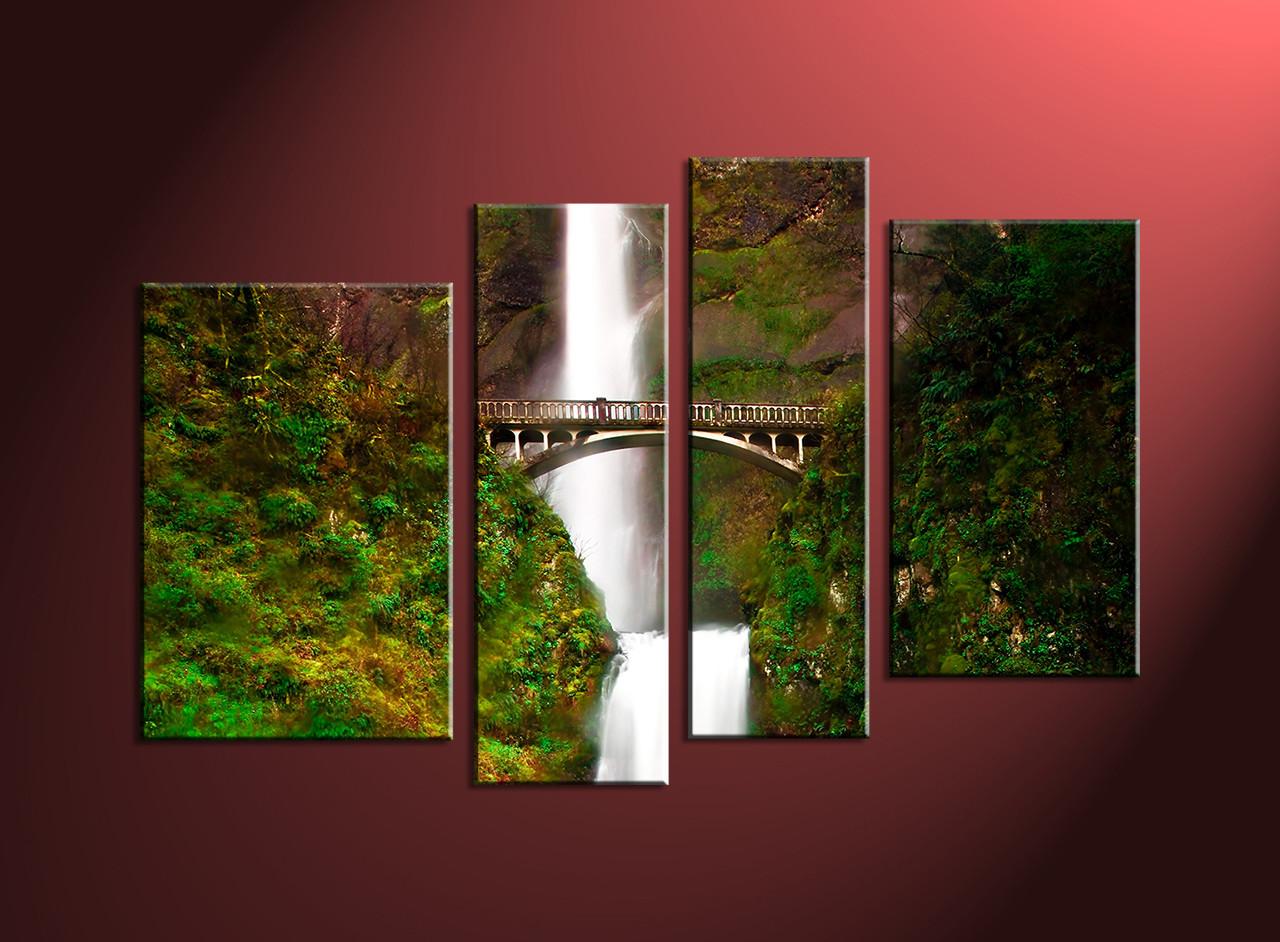 Scenery Large Canvas ,home Decor,4 Piece Canvas Art Prints, Nature Canvas  Print