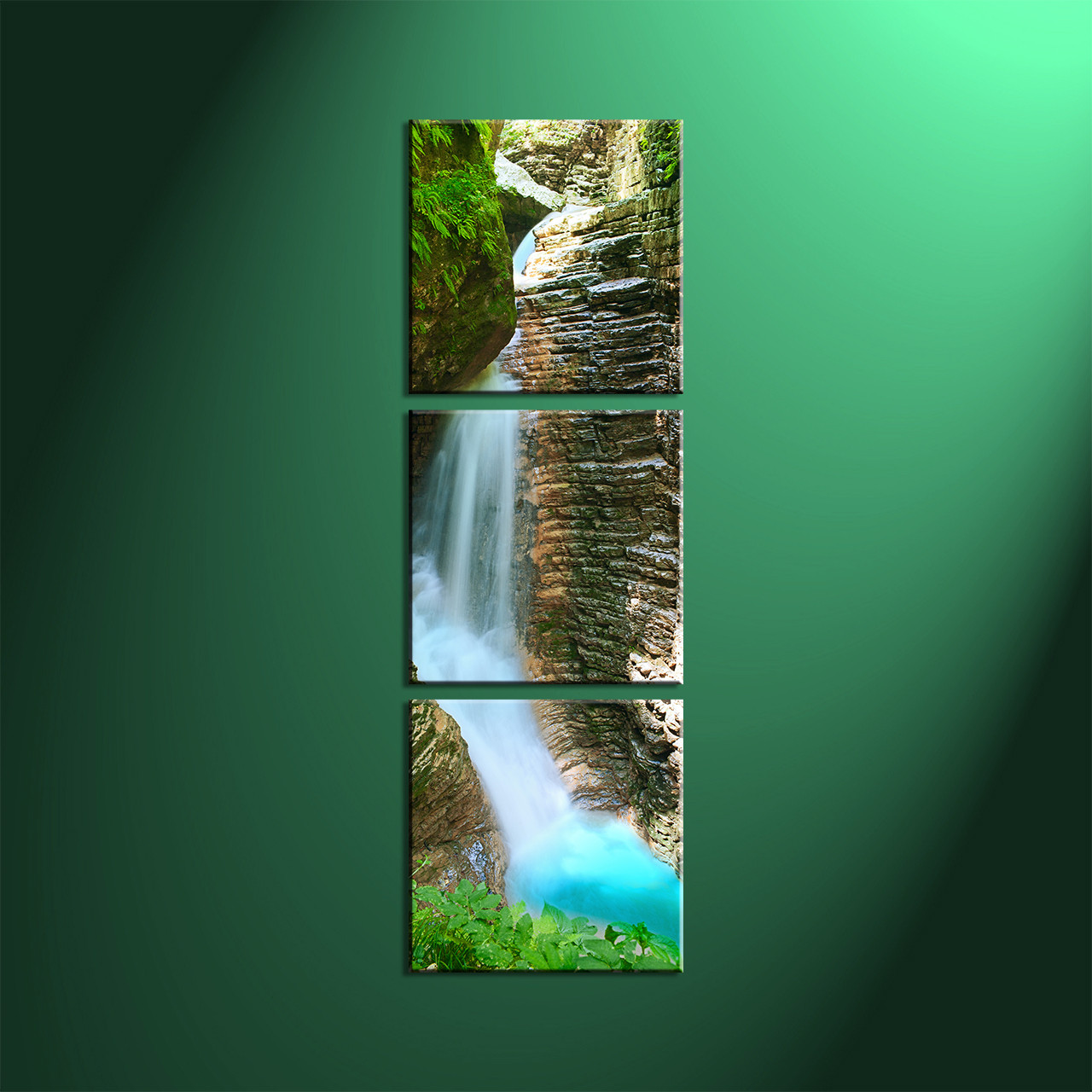 3 piece canvas green forest scenery pictures