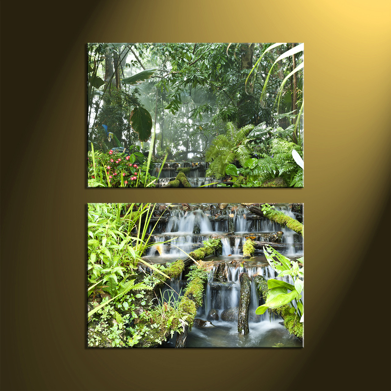 Forest Wall Art 2 piece green canvas scenery forest wall art